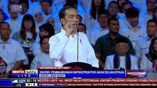Pidato Lengkap Visi Jokowi untuk Indonesia 5 Tahun ke Depan