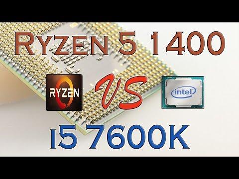 RYZEN 5 1400 Vs I5 7600K - BENCHMARKS / GAMING TESTS REVIEW AND COMPARISON / Ryzen Vs Skylake