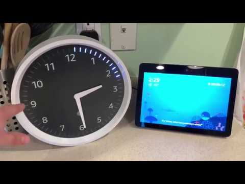 Amazon Echo Wall Clock Unboxing, Setup, and Usage **MUTE YOUR ECHO**