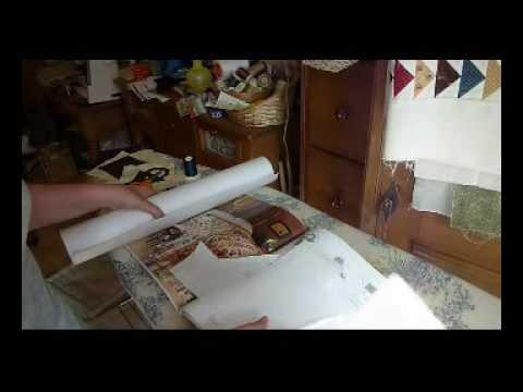 Appliquè con freezer paper tutorial hobby e creatività