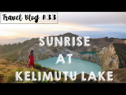 FLORES TRIP   Travel Vlog #33 : VIEW SUNRISE AT KELIMUTU LAKE, ENDE INDONESIA