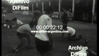 DiFilm - Estudiantes de La Plata entrena en su estadio (1968)