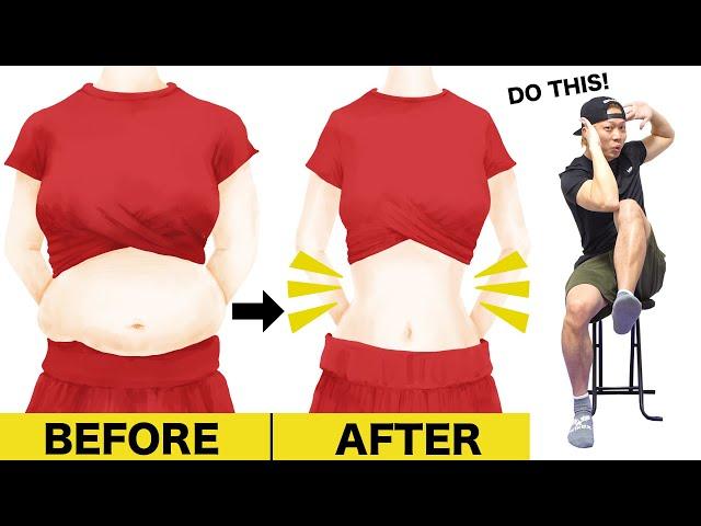 【5分】座ったまま1週間で平らなお腹を手に入れる腹筋運動