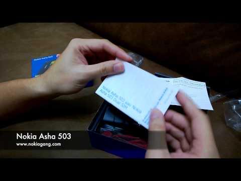 แกะกล่อง Nokia Asha 503
