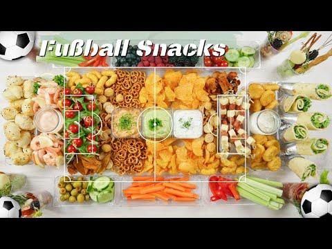 Fußball EM 2021 - Snackboard und bunte Snackbecher zum Fußball gucken