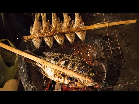 Grilled Mekong River Fish in Laos