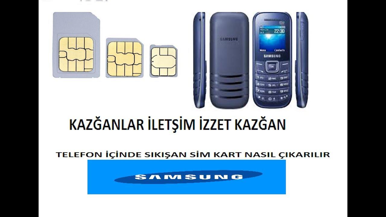 Samsung e1205 t sim kart yuvası değişimi.