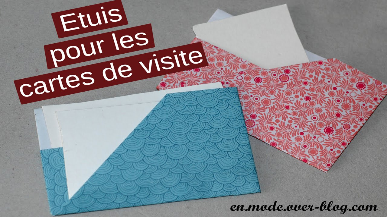 HOW TO Porte Cartes De Visite En Origami Card Holder