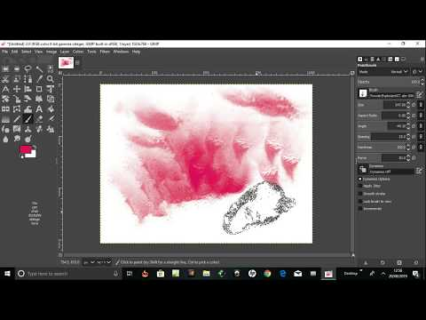 change brush size and angles of brushes on gimp 2.10 thumbnail