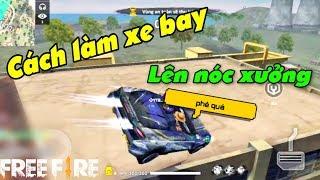 Free Fire   Hướng Dẫn Làm Xe Bay Lên Nóc Xưởng Cơ Khí [How to fly car]   Meow DGame