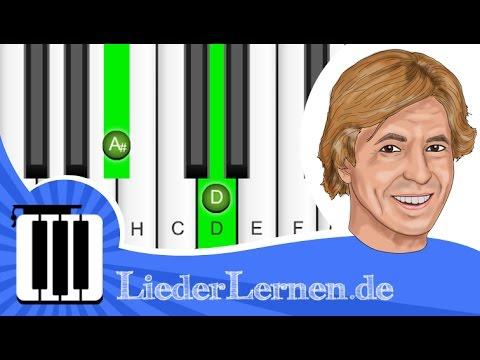 Jürgen Marcus - Eine neue Liebe ist wie ein neues Leben - Klavier lernen - Musiknoten - Akkorde