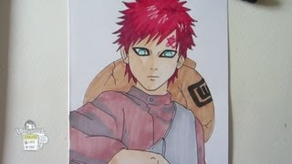 How to draw Gaara 我愛羅