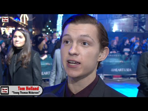 "Tom Holland In The Heart Of The Sea Premiere Interview: ""Chris Hemsworth is too handsome for me!"""