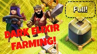 Clash of Clans - FASTEST Dark Elixir Farming for TH8 & TH9!! GiBarch with Goblins strategy!