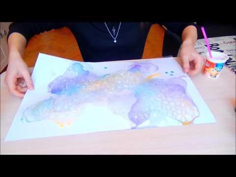 ● Рисунок Мыльными Пузырями | Просто и красиво!!