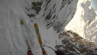 Red Couloir / Červený žľab - steep skiing - The High Tatras