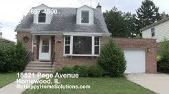 Homewood For Rent Homewood IL Homes 18521 Page Avenue Homewood IL