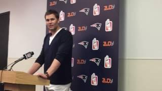 New England Patriots QB Tom Brady after 35-14 win vs. Miami Dolphins