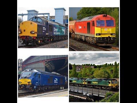UK RAILWAYS 2018 DIESEL LOCOMOTIVE THRASH & FREIGHT TRAIN COMPILATION JANUARY - JULY 2018