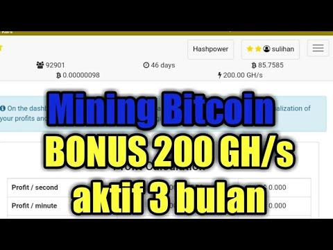 new legit, free 200GHs aktif 3bulan Mining Bitcoin