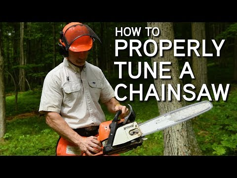 How To Tune A Chainsaw | Adjusting The Carburetor
