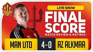 GOLDBRIDGE! GREENWOOD SUPERB! Manchester United 4-0 AZ Alkmaar Match Reaction