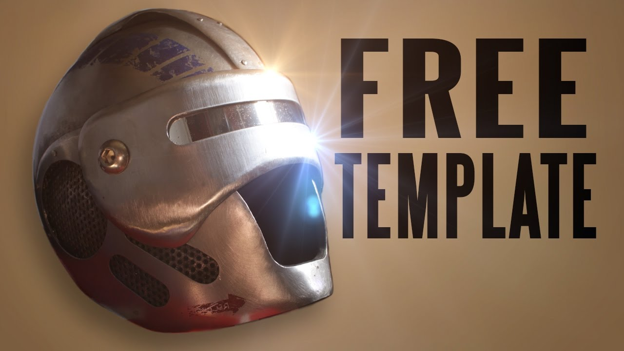 bionic helmet faceplate tutorial and 10 free templates youtube