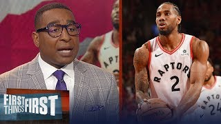 Kawhi, Raptors take Game 3 in double OT over Bucks - Nick & Cris react | NBA | FIRST THINGS FIRST