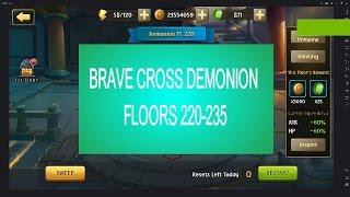 Brave Cross - Demonion floor 220-235