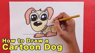 Wie Zeichnet Man Einen Cartoon-Hund | Einfach Schritt Für Schritt Weise Zu Lernen, Zeichnen