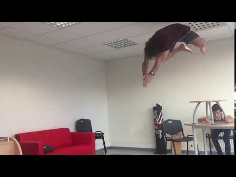 The best fails  slowmo guy frontflips onto small bean bag