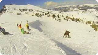 AWESOME Cornice Drop   Snowboarding #WIN