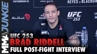 Brad Riddell: Referee mistake cost me TKO victory | UFC 253 post-fight interview