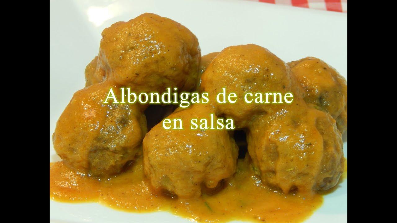 Cómo hacer albóndigas de carne en salsa