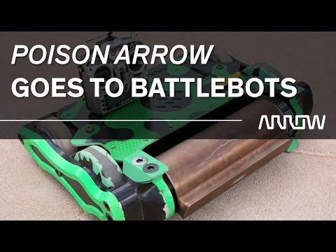 "Arrow Sponsors BattleBot ""Poison Arrow"" from Caustic Creations"