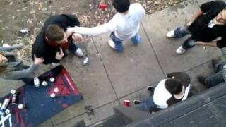 Repeat youtube video Bully beat down by little guy