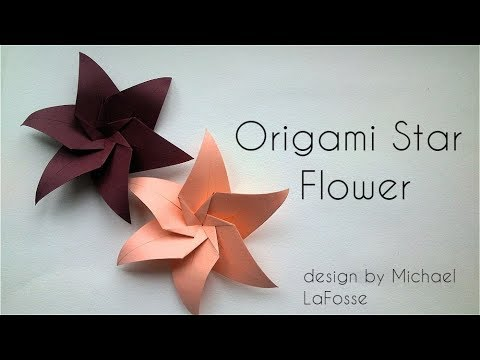 Origami Star Flower (design by Michael LaFosse)