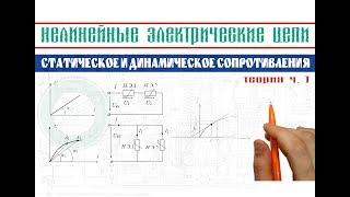 Нелінійні електричні ланцюги │Статичне і динамічне опору