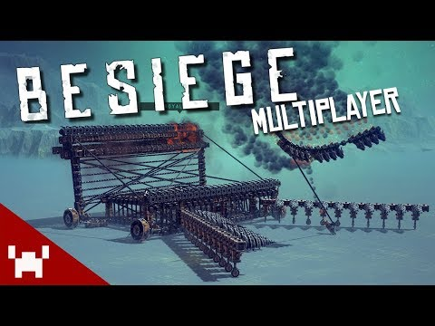 DESTRUCTION WITH FRIENDS | Besiege Multiplayer w/ Ze, Chilled, & Smarty