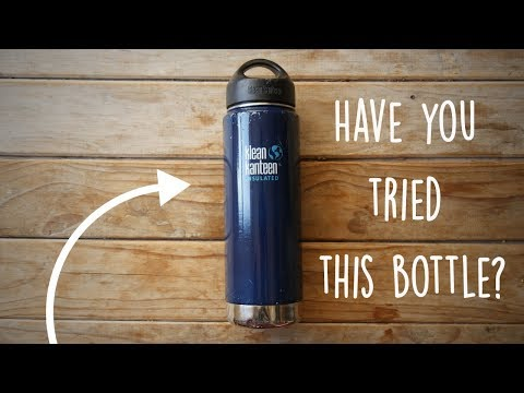 This is the best water bottle ever. (Klean Kanteen)