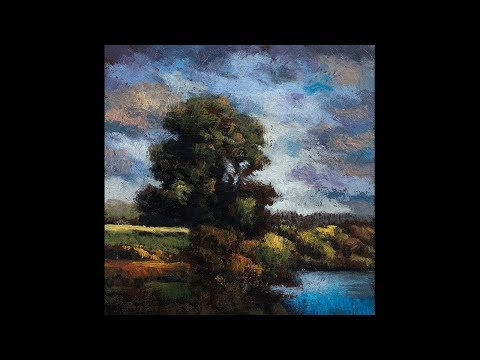 Arcadian Morning 3½x3½ Redo Tonalist Landscape Oil Painting Demonstration