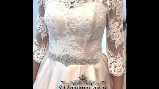 Примерка свадебного платья из новой коллекции