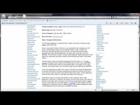 WinnDixie Job Application Online YouTube