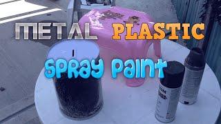 Spray Paint Metal Plastic