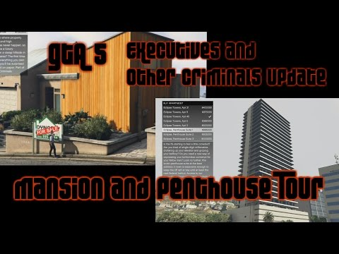 GTA 5 Online :: Custom Penthouse & Mansion Tour :: Dec 15th Executives and Other Criminals Update