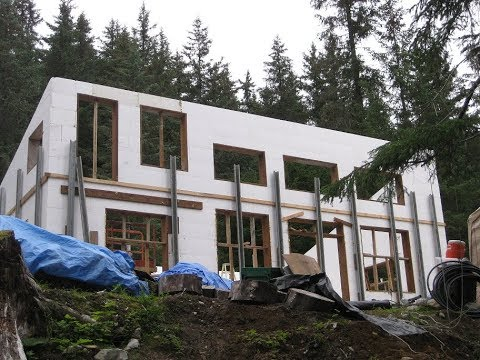 Building ICF Walls Part 6 with Fox Blocks in Alaska 2nd Level