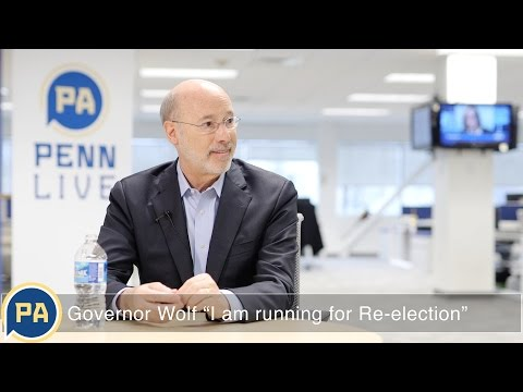 """Pennsylvania Governor Tom Wolf: """"I am running for re-election"""""""