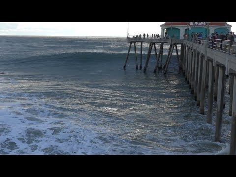 Huntington Beach, CA, Surf, 2/18/2017 - Part 4 (4K@30)