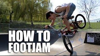 How To Footjam Bmx (Как Сделать Футджем В Радиусе) | Школа Bmx Online #20