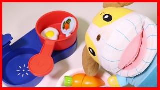 しまじろう おとでなりきりキッチンセット たまご はみがきもきちんとね! ハンバーグ ブロッコリー♪ ❤アンパンマン おもちゃアニメ Toy Kids トイキッズ animation anpanman
